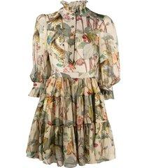 etro tiger-print flared dress