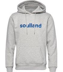 logic googie hooded sweat w. front flock print hoodie trui grijs soulland