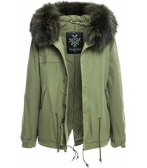 army mini parka with fur