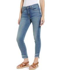 women's jen7 by 7 for all mankind high waist fringe hem ankle skinny jeans
