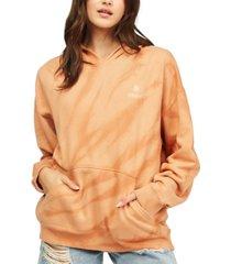 billabong juniors' free ride tie-dye hooded sweatshirt