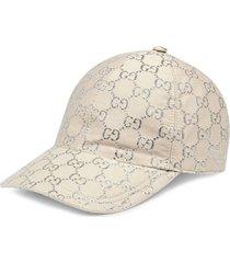 gucci gg jacquard-woven baseball cap - white