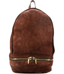ajmone textured backpack - brown