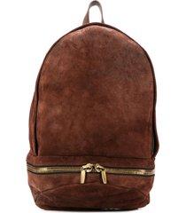 ajmone textured backpack - brown