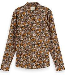 scotch & soda 158897 0221 scotch en soda slim fit cotton viscose shirt combo e