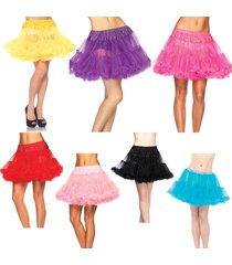 leg avenue sexy womens layered soft tulle petticoat skirt tutu costume 8990
