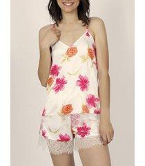 pyjama's / nachthemden admas pyjama shorts tank top thai flowerss