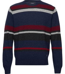 knit gebreide trui met ronde kraag blauw signal