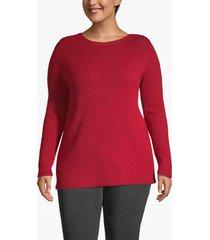 lane bryant women's pointelle knit boat neck sweater 18/20 american beauty