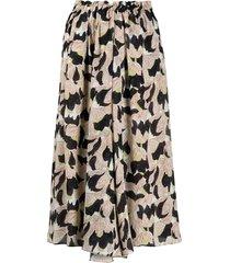 alysi high-rise floral-print silk skirt - neutrals