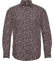 berry coloured flower print skjorta casual röd bosweel shirts est. 1937