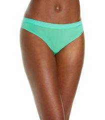 calvin klein second skin brazilian panties, size medium in star print zen green at nordstrom