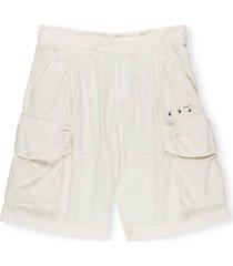 off-white off white logo utility shorts