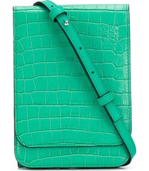 loewe gusset flat crossbody bag - green