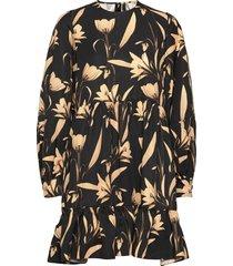 effie botanical black printed dress dresses everyday dresses svart mother of pearl