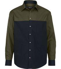overhemd men plus olijf::marine