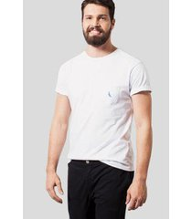camiseta malha variada bolso variado reserva masculina
