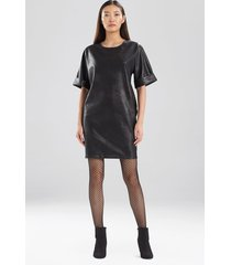 natori prism faux leather t-shirt dress, women's, size s