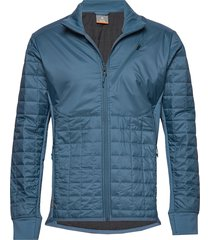 mens helix ls zip outerwear sport jackets blå icebreaker