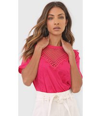 camiseta desigual tropic toughts pink