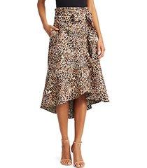 cynical attitude leopard print wrap skirt