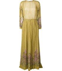 a.n.g.e.l.o. vintage cult 1970's floral long dress - green