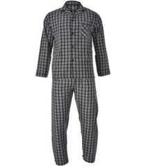 hanes men's cvc broadcloth pajama set