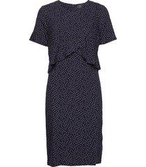 dress-light woven knälång klänning blå brandtex