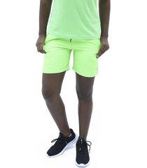 pantaloneta verde neon fila ffyh46