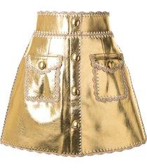 alice mccall cool cat metallic skirt - gold