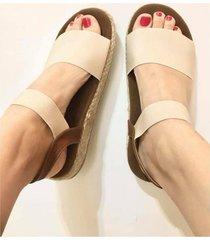 sandalia beige vita shoes río