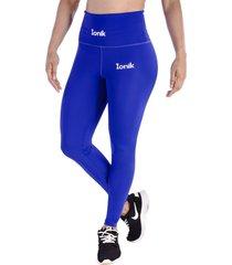 leggings azul rey - cintura anatómica con control