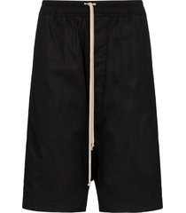 rick owens drkshdw pods drop-crotch bermuda shorts - black