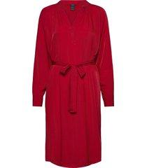 dress collin knälång klänning röd lindex