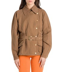 alberta ferretti canvas jacket