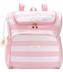mochila maternidade pirulitando baby coleção listras rosa