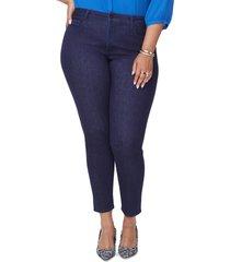plus size women's nydj ami stretch skinny jeans, size 22w - blue