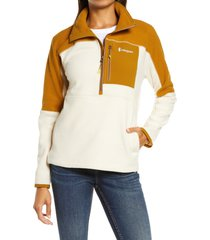women's cotopaxi dorado half zip fleece jacket, size x-large - brown