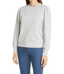 women's rails marcie puff sleeve cotton blend sweatshirt, size x-small - grey