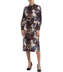 vestito abito donna al ginocchio manica lunga chavaux kenzo