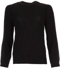gebreide trui met mouwdetails hobson  zwart
