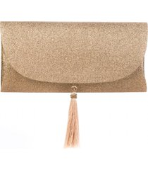 bolsa a clutch mini glitter party champagne