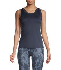 spyder women's solid tank top - outer space - size xl