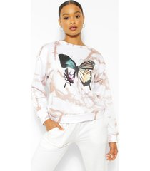 tie dye butterfly sweater, stone