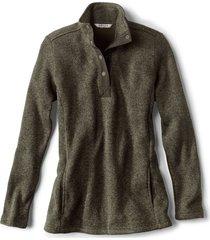 sweater fleece quarter-snap tunic