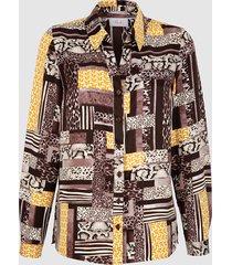 blouse paola geel::donkerbruin::donkerbruin
