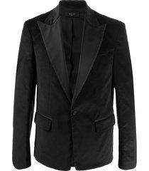amiri formal single breasted blazer - black