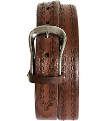 men's brunello cucinelli vintage leather belt