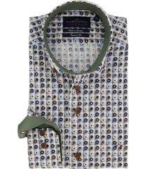 overhemd portofino mouwlengte 7 groene print