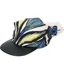 salvatore ferragamo abstract print bandana hat - neutrals